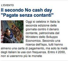 """20/06/2012 - Repubblica.it - Il secondo No cash day """"Pagate senza contanti"""""""