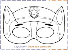 free paw patrol chase mask printable coloring in mask for kids. paw patrol names zuma coloring page for kids. Ninjago Coloring Pages, Paw Patrol Coloring Pages, Birthday Coloring Pages, Unicorn Coloring Pages, Halloween Coloring Pages, Coloring Pages For Kids, Free Coloring, Paw Patrol Masks, Paw Patrol Party
