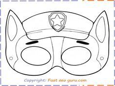 coloring paw patrol masks sketch coloring page. Black Bedroom Furniture Sets. Home Design Ideas
