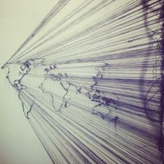 Debbie smyth, string artwork, its a small world