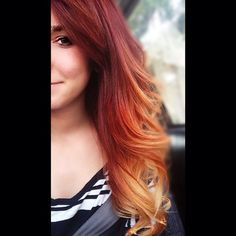 Thinking about doing this. (12) red ombre | Tumblr