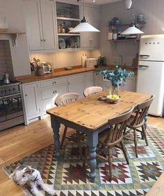 Kitchen Island Storage, Farmhouse Kitchen Island, Modern Kitchen Island, Cottage Kitchens, Rustic Kitchen, Kitchen Dining, Kitchen Decor, Kitchen Islands, Kitchen Ideas