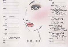 Bobbi Brown face chart for Kate Middleton at royal wedding I Love Makeup, Diy Makeup, Makeup Tips, Beauty Makeup, Beauty Tips, Makeup Ideas, Fall Makeup, Summer Makeup, Beauty Ideas