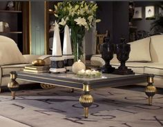 This is a great example of a luxurious coffee table. It will add a glamorous touch to your room.  #homedecorideas #coffeetables #interiordesign