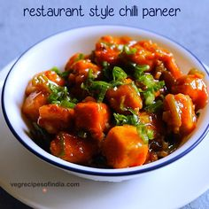 Chilli paneer restaurant style recipe - One of the favorite recipe from indo chinese cuisine. This chilli paneer recipe gives restaurant style taste and flavor. Chilli Paneer Recipe Video, Chilli Recipes, Chutney Recipes, Vegetarian Recipes, Cooking Recipes, Veg Recipes Of India, Indian Food Recipes, Chinese Recipes, Vegetable Dishes