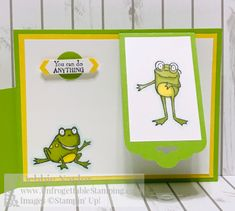 Unfrogettable Stamping | January 2019 Stampers Dozen Blog Hop Sale-a-Bration card featuring the So Hoppy Together stamp set and Organdy Ribbon combo pack from Stampin' Up! Earn each for FREE with a qualifying $50 product order now through March 31st!! Fun Fold Cards, Pop Up Cards, Folded Cards, Baby Cards, Kids Cards, Camp Letters, This Little Piggy, Stamping Up Cards, Unique Cards