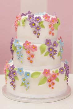 """Beautiful spring"" cake - Cake by Marta Gorgeous Cakes, Pretty Cakes, Cute Cakes, Amazing Cakes, Spring Cake, Floral Cake, Cake Decorating Tips, Fancy Cakes, Love Cake"