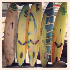 Old school Brunotti boards, shaped by Claudio Brunotti