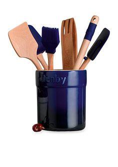 Denby Cook & Dine Imperial Blue 7-Piece Gadget Set - Online Only