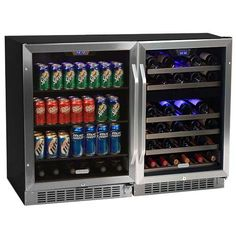 Built-In Wine Cellars - Edgestar 46 Bottle  148 Can SidebySide Wine  Beverage Cooler Center ** Click on the image for additional details.