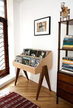 Record Stand Flip through albums face first, just like the bins at the record store. The Atocha Design Record Stand is heirloom-quality furniture designed to show off your music. Quality Furniture, Home Furniture, Furniture Design, Wooden Furniture, Luxury Furniture, Trendy Furniture, Cheap Furniture, Discount Furniture, Gothic Furniture