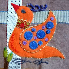 sue spargo bird quilt | Au bonheur des mains: Sue Spargo Bird Danse #4