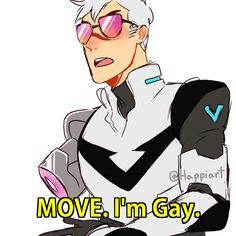 Shiro is gay and in charge and I'm here for it. Voltron Klance, Shiro Voltron, Voltron Memes, Voltron Comics, Voltron Fanart, Form Voltron, Voltron Ships, Voltron Paladins, Voltron Force
