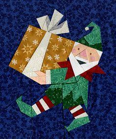 Elfie's Selfies Paper-Pieced Quilt Patterns at paperpanache.com