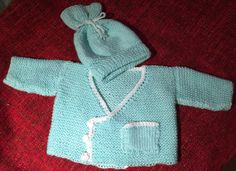 Baby cardi and hat set