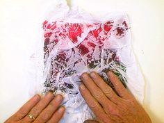 Watercolor Techniques: Tissue Paper Watercolor Texture Tutorial © 2010 G. Conley