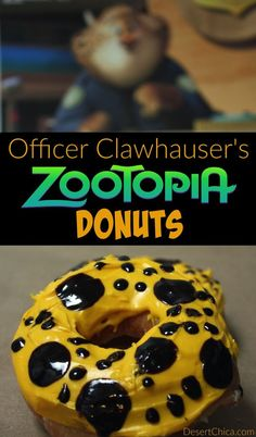 These Zootopia donuts are super easy to make! Make them as a fun Zootopia treat for the kiddos or turn it into a Zootopia activity and let the kiddos decorate their own Officer Clawhauser donuts! Here's how to Make Zootopia Donuts.