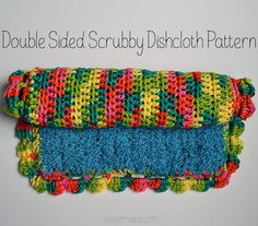 Double Sided Scrubby Dishcloth Pattern