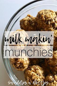 Milk Makin' Munchies- Bites to help boost lactationMilk Makin' Munchies- Bites to help boost lactationMilk Makin' Munchies- Bites to help boost lactation