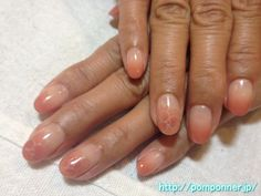 Simple nail and flower gradation
