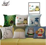 "24 Style Totoro Cushion Decorative Sofa/Bed/Car Throw Pillowcase Cotton Linen Cushion ""Mr Frog""Throw Pillow Cojines YK008"
