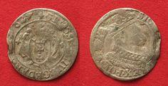1627 Danzig Polish DANZIG Grosz 1627 SIGISMUND III of POLAND silver aVF SCARCE! # 90053 VF-