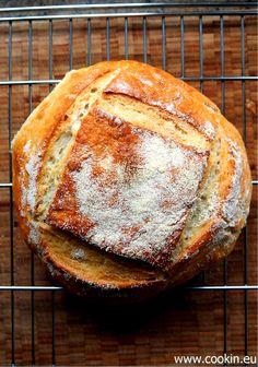 Pane Pugliese - italienisches Hartweizen Brot mit kalter Führung | Pane Pugliese - italian durum wheat bread