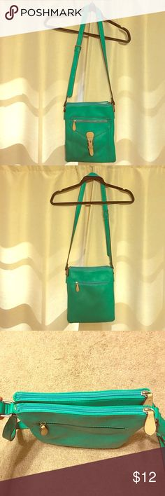 Teal over the shoulder purse. Multiple pockets. Teal / aqua over the shoulder purse with adjustable strap. Multiple pockets. Perfect summer purse. Bags Crossbody Bags
