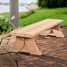 Heavy-Duty Viking Bench A brawny companion to our viking table. This viking bench is rock-solid and buildable with basic tools, yet it has a certain elegance to it. Woodworking Workbench, Woodworking Furniture, Furniture Plans, Woodworking Projects, Concrete Furniture, Woodworking Basics, Workbench Plans, Woodworking Classes, Woodworking Techniques