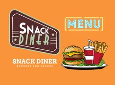 Diner Logo, Burgers And Shakes, Blog Banner, Youtube Banners, Public Profile, Brand Identity, Muse, Digital, Design
