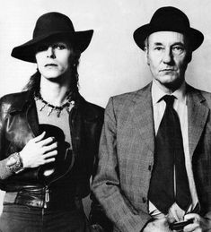 David Bowie and William S. Burroughs