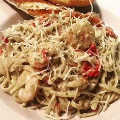 Carb loading for the amazing month of September in #Raleigh @mywayraleigh September special with shrimp!!! We'll take two! Not your typical bar food trust us.  #pasta #shrimp #alfredo #eatlocal