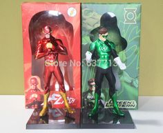 """3pcs  8"""" 20CM  Marvel DC Comics Unlimited The Flash Green Lantern PVC Action Figure hot sale-in Action & Toy Figures from Toys & Hobbies on Aliexpress.com 