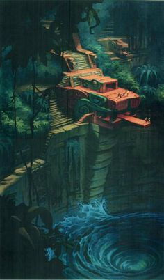 Fantasy City, Fantasy Places, Fantasy World, Fantasy Art Landscapes, Fantasy Landscape, Landscape Art, House Landscape, Temple Maya, Jungle Temple