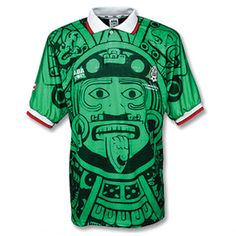 1998 Mexico Retro Home Green Soccer Jersey Shirt sale Retro Football Shirts, Retro Shirts, Football Jerseys, Sports Jerseys, Mexico Jersey, Fifa, Jersey Retro, Mexico National Team, Arsenal Shirt