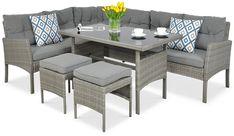 Narożnik z technorattanu CORTINA Dark Grey Outdoor Furniture Sets, Outdoor Decor, Dark Grey, Sofa, Home Decor, Settee, Decoration Home, Room Decor, Couch