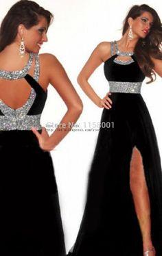 Cheapest Free Shipping 2015High Quality Scoop Bead vestido de festa Side Slit Elegant Red Chiffon A Line Long Prom Dresses2015 - http://www.aliexpress.com/item/Cheapest-Free-Shipping-2015High-Quality-Scoop-Bead-vestido-de-festa-Side-Slit-Elegant-Red-Chiffon-A-Line-Long-Prom-Dresses2015/32313604255.html