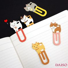 Cute Cat and Dog paper clips! Use as a book mark or to just hold paper together!