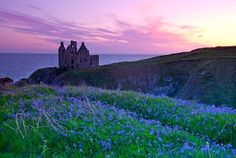 Ruins of Dunskey Castle on the southwest coast of Scotland