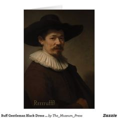 Shop Rembrandt Master Dutch Painting Custom Sentiment created by The_Museum_Press. Wedding Announcements, Rembrandt, Single Image, Custom Greeting Cards, Gentleman, Paintings, Hat, Pillows, Portrait