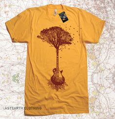 On Sale / Guitar Tree Music mens T Shirt - American Apparel Tshirt - S M L XL 2X