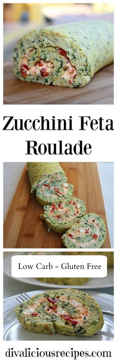 A zucchini roulade that makes a great vegetarian centre stage dish. With a creamy filling of feta cheese and grilled red pepper this is great warm or cold. Recipe: http://divaliciousrecipes.com/2017/03/08/zucchini-feta-roulade/