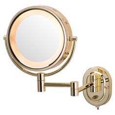 Halo Swinging Lighted Vanity Mirror Master Bath