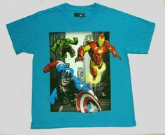 MARVEL AVENGERS Boy's Size 6/7, 8, 10/12, OR 14/16 Tee, T-Shirt, Shirt, NEW #MarvelTM #Everyday