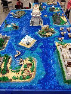 """Homer's The Odyssey"" by VirtuaLUG at BrickWorld Chicago 2014 | ""La Odisea"" de Homero | #LEGO #LUG"