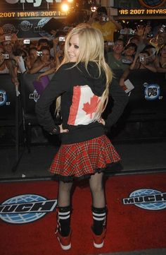Avril Lavigne at the 18th Annual MuchMusic Video Awards in Toronto, Canada, June 17, 2007.