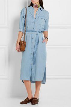 Equipment   Delaney cotton-chambray shirt dress   NET-A-PORTER.COM