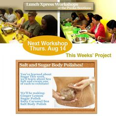 Don't miss this week's lunch workshop!