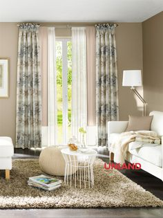 Unland Ombre, Fensterideen, Vorhang, Gardinen und Sonnenschutz - curtains, contract fabrics, pleated blinds, roller blinds and more. Made in Germany