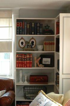 I like adding the detailing to the ikea bookshelves, and we need some bookshelves!